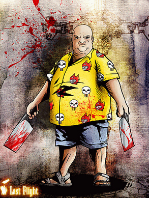 Our hero a crazy food critic out to kill the undead